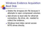 windows evidence acquisition boot disk4