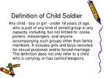 definition of child soldier