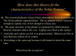 how does this theory fit the characteristics of the solar system41