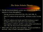 the solar nebula theory38