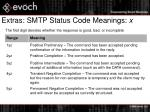 extras smtp status code meanings x