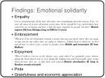 findings emotional solidarity