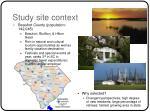 study site context
