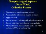 nasopharyngeal aspirate nasal wash collection process