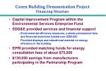 green building demonstration project financing structure