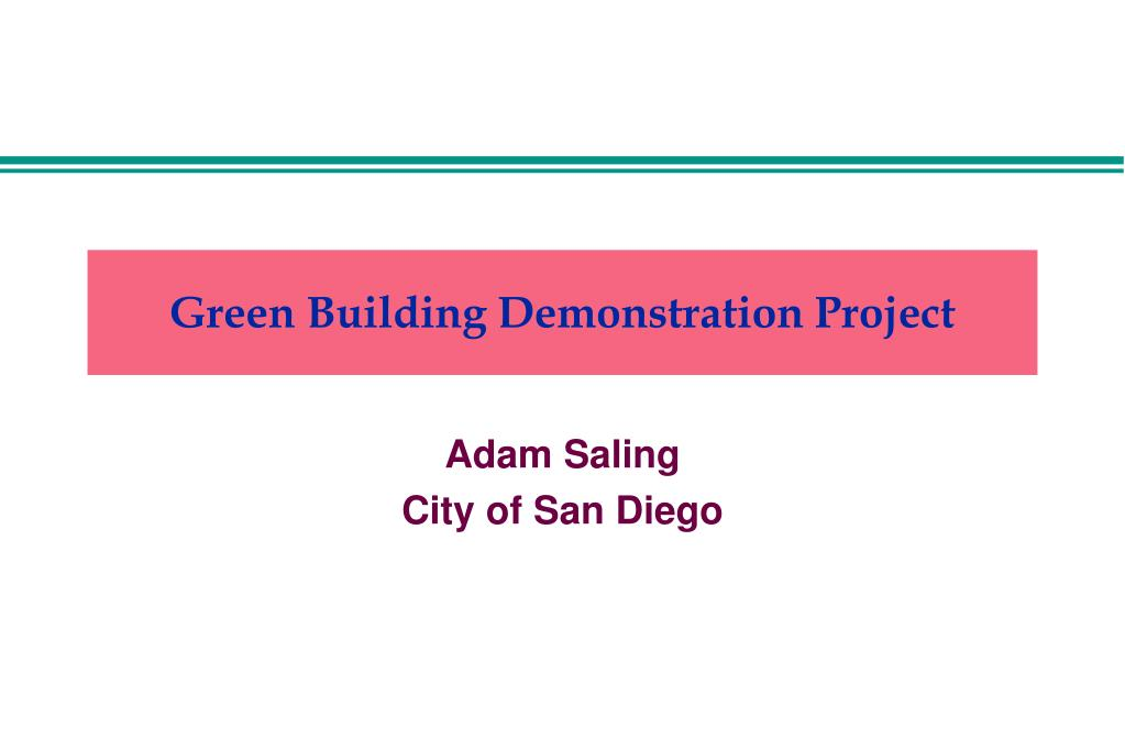 green building demonstration project l.