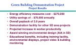green building demonstration project project results