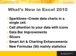 what s new in excel 2010