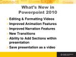 what s new in powerpoint 2010