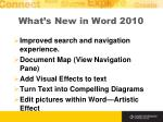 what s new in word 2010