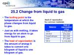 25 2 change from liquid to gas