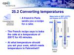 25 2 converting temperatures