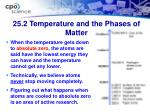25 2 temperature and the phases of matter20