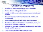 chapter 25 objectives