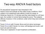 two way anova fixed factors