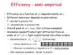 efficiency semi empirical