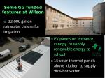 some gg funded features at wilson