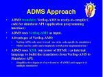 adms approach