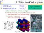 a15 weaire phelan foam