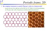 periodic foams 2d