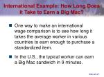 international example how long does it take to earn a big mac