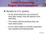 labor outsourcing wages and employment36