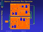 source synchronous bus operation