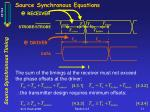 source synchronous equations