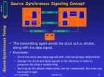 source synchronous signaling concept