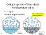 collig properties of nonvolatile nonelectrolyte sol ns