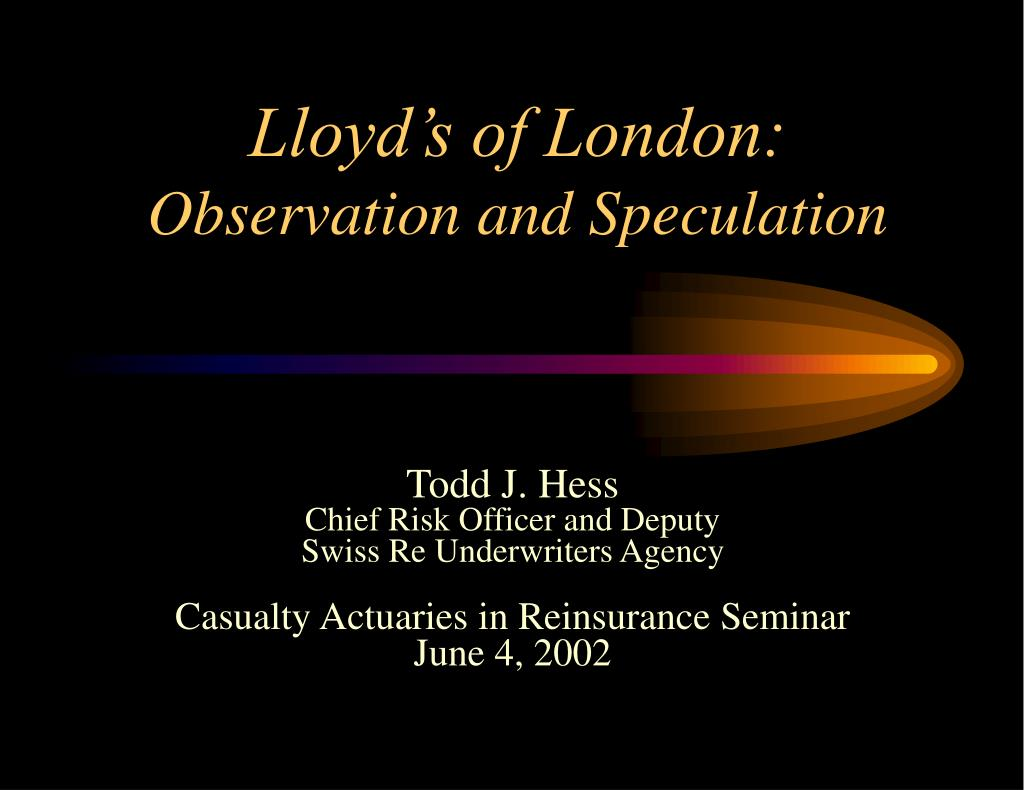 lloyd s of london observation and speculation l.