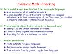 classical model checking