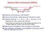 nested word automata nwa