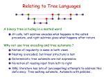 relating to tree languages