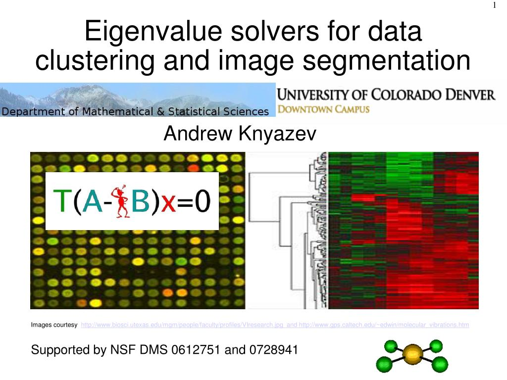 eigenvalue solvers for data clustering and image segmentation l.