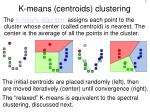 k means centroids clustering