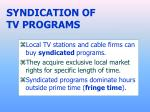 syndication of tv programs
