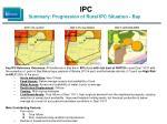 ipc summary progression of rural ipc situation bay