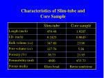 characteristics of slim tube and core sample