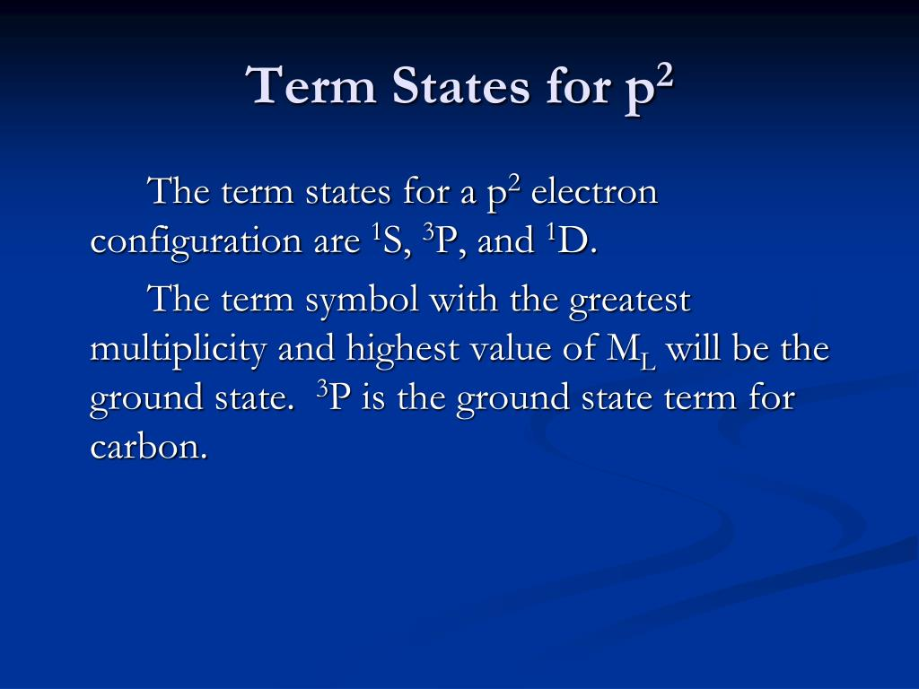 Term States for p