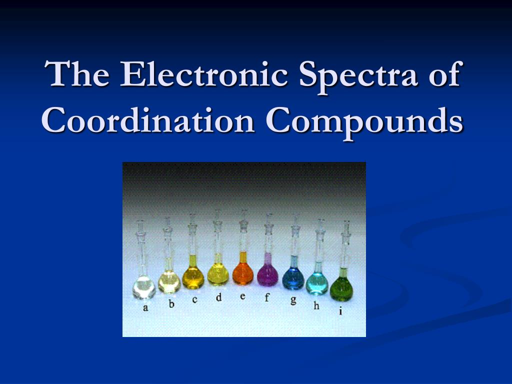 the electronic spectra of coordination compounds l.