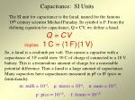 capacitance si units