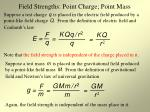 field strengths point charge point mass