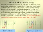 fields work potential energy