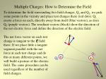 multiple charges how to determine the field