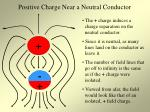 positive charge near a neutral conductor