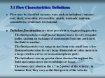 3 1 flow characteristics definitions