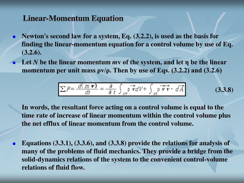 Linear-Momentum Equation