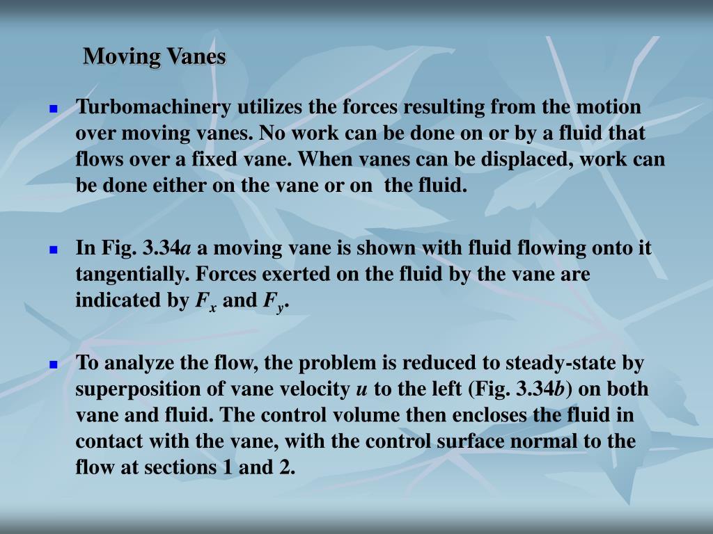 Moving Vanes