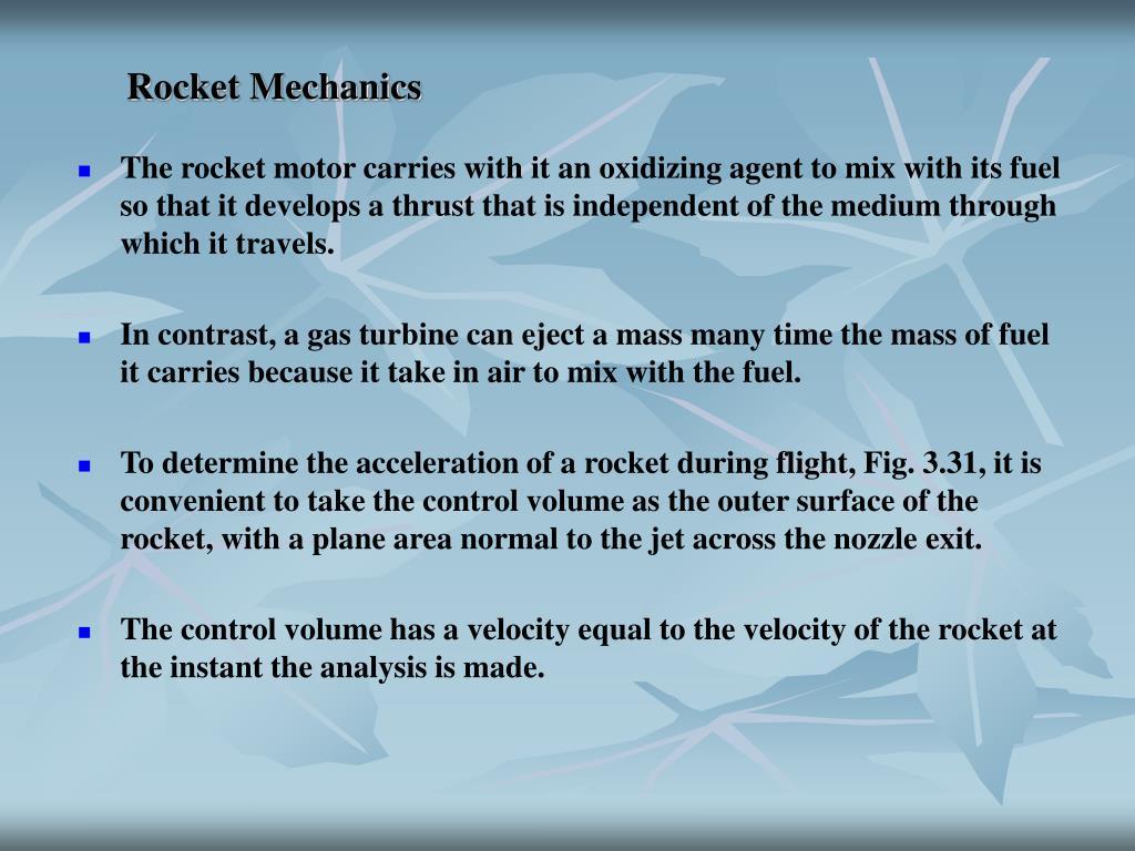 Rocket Mechanics